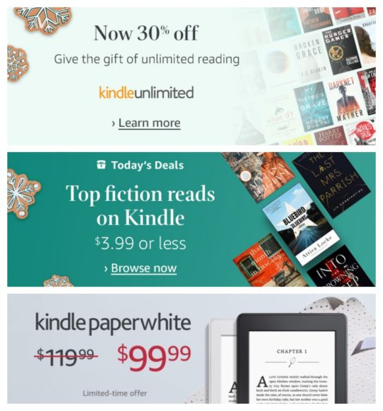 Last-minute 2017 deals on Kindle e-readers, books, and Kindle Unlimited subscription