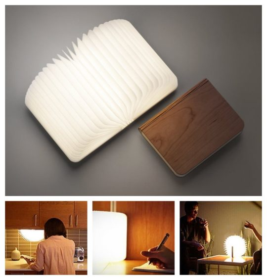 Most awesome bookish gifts of 2017 - Leditop folding book lamp