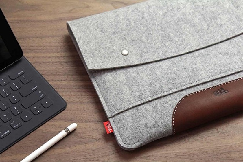 Pack & Smooch iPad Pro 12.9-inch Merino Felt and Vegetable Tanned Leather Sleeve