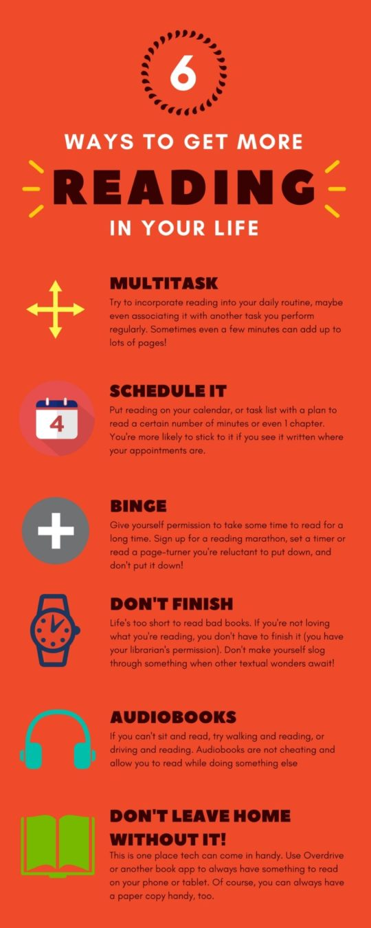 Six tried-and-true ways to get more reading in your life #infographic