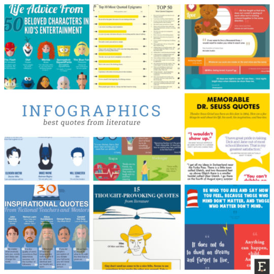 The best infographics with quotes and passages from literature