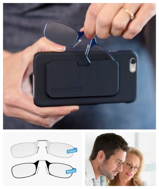 ThinOptics reading glasses and iPhone case - best gifts for book lovers 2017