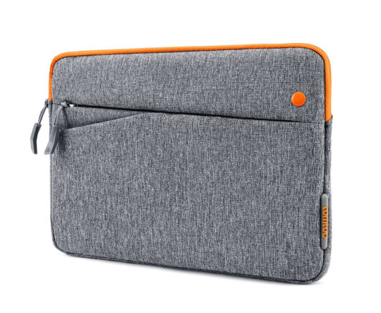 Tomtoc iPad Pro 10.5 sleeve - Gray and Orange