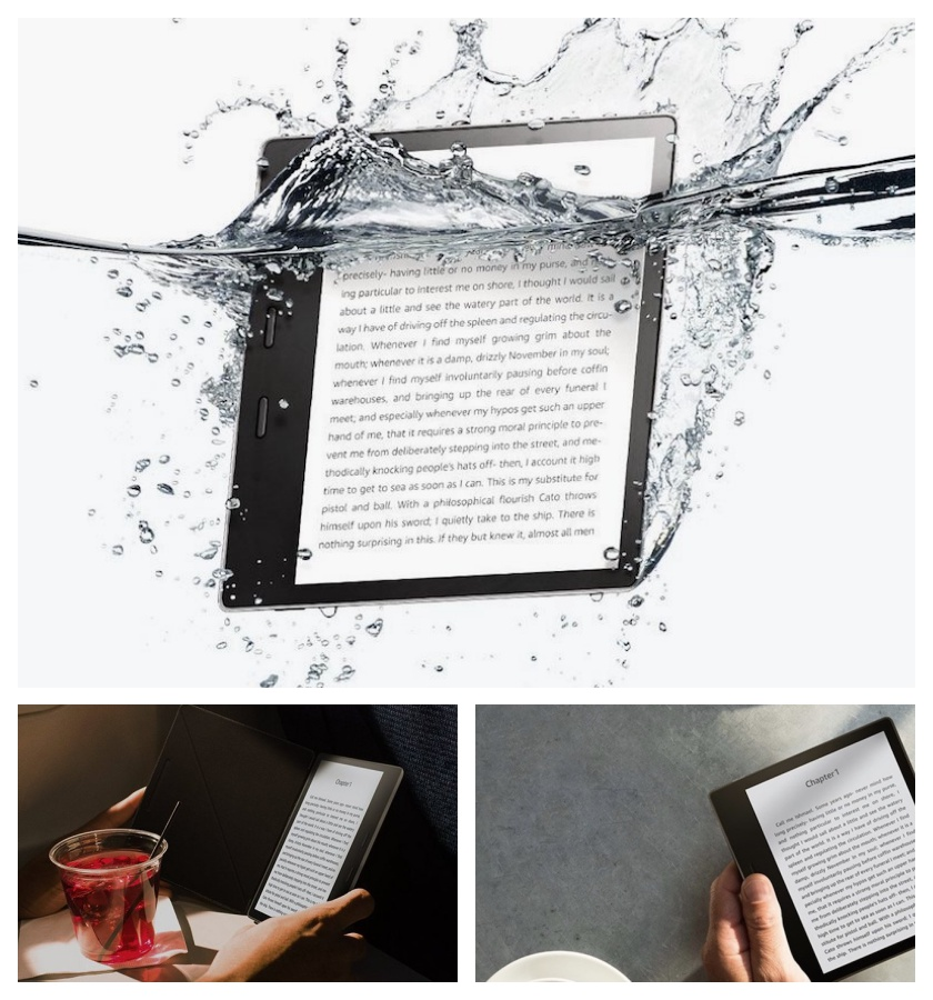 Top bookish gifts of 2017 - Waterproof Kindle Oasis 2 e-reader