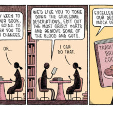 A few editorial corrections to the book - a cartoon by Tom Gauld