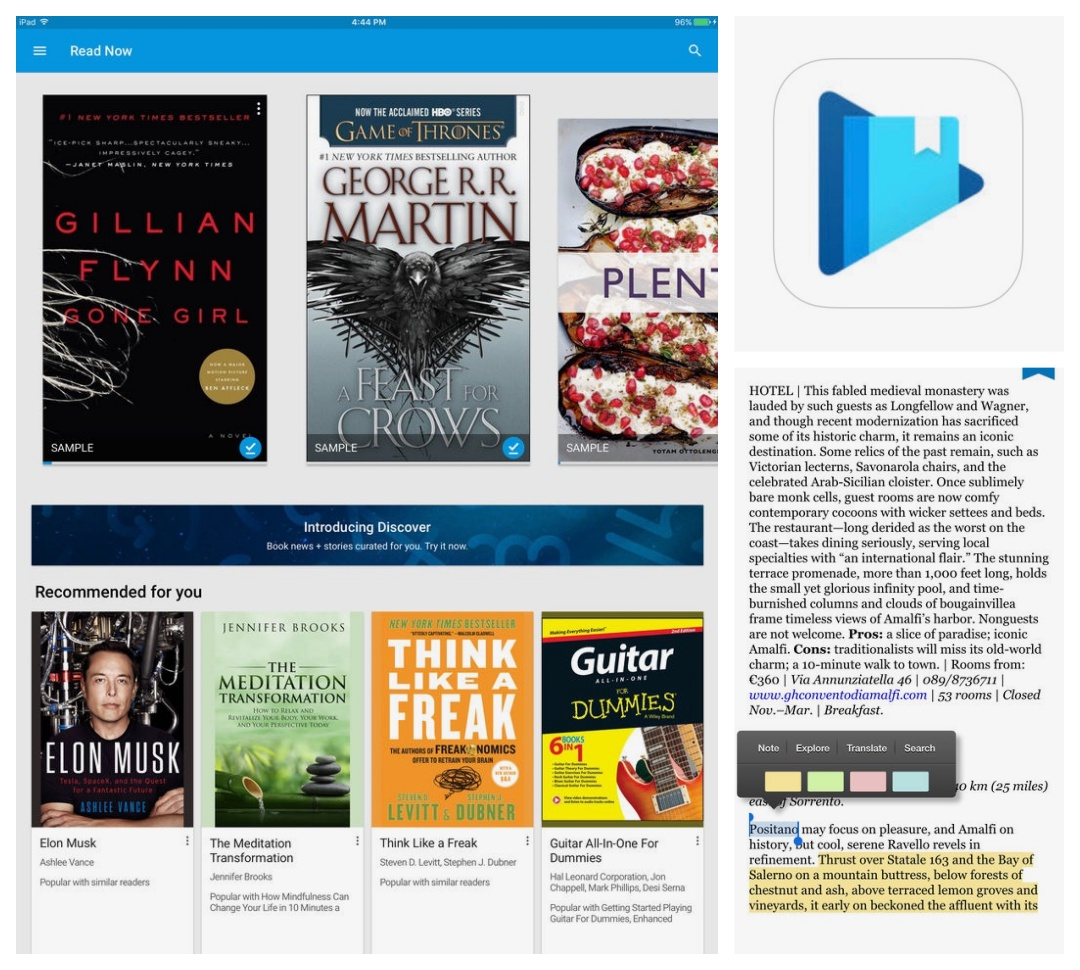 Best iPad and iPhone apps for book lovers - Google Play Books