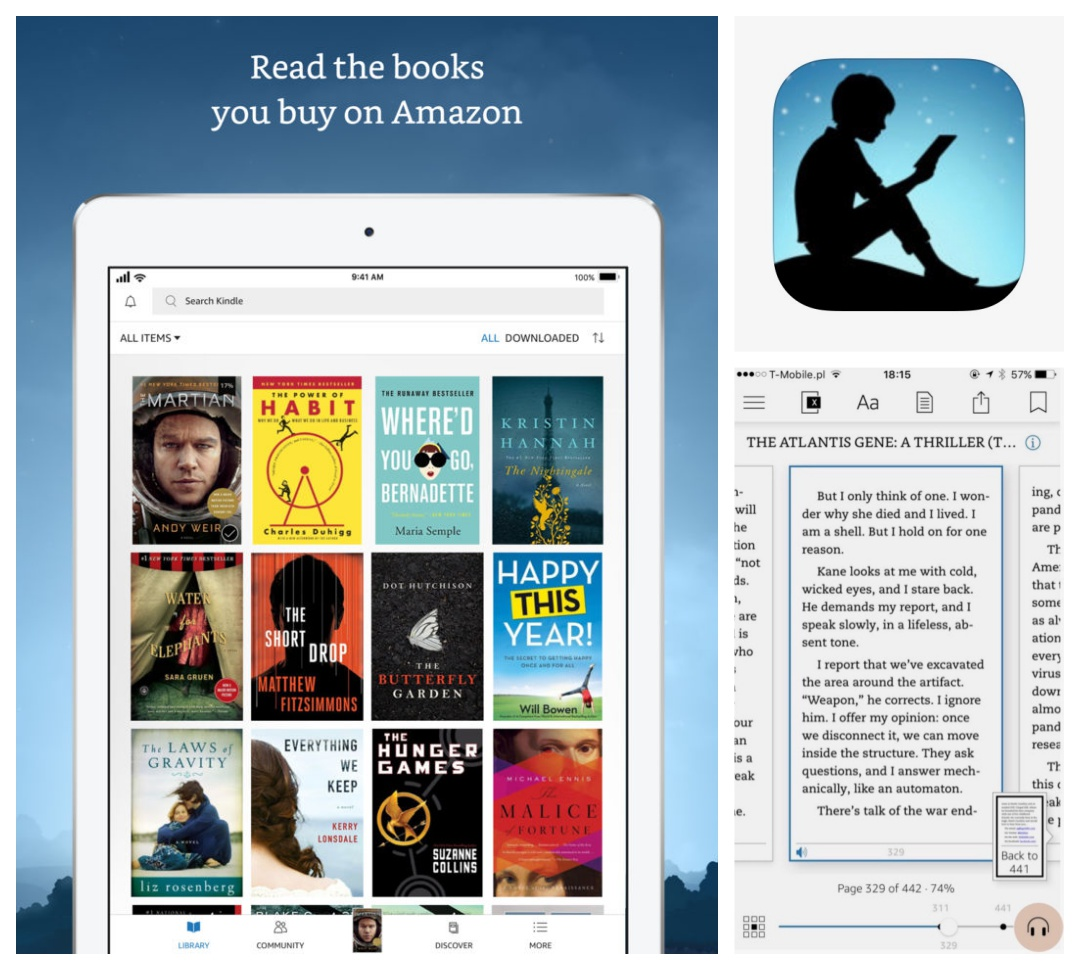 Best iPad iPhone apps for book lovers - Kindle