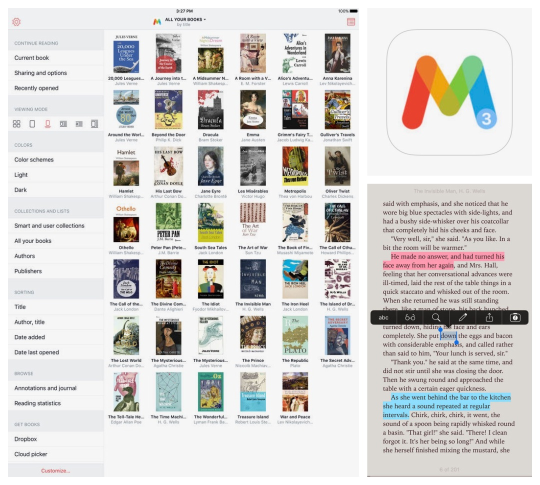 Best iPad iPhone apps for book lovers - Marvin 3