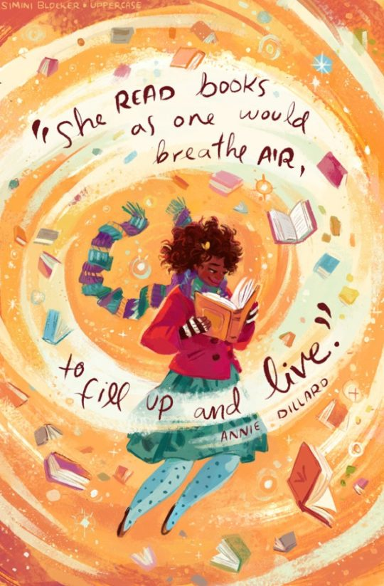 Book quote illustrations by Simini Blocker - Annie Dillard