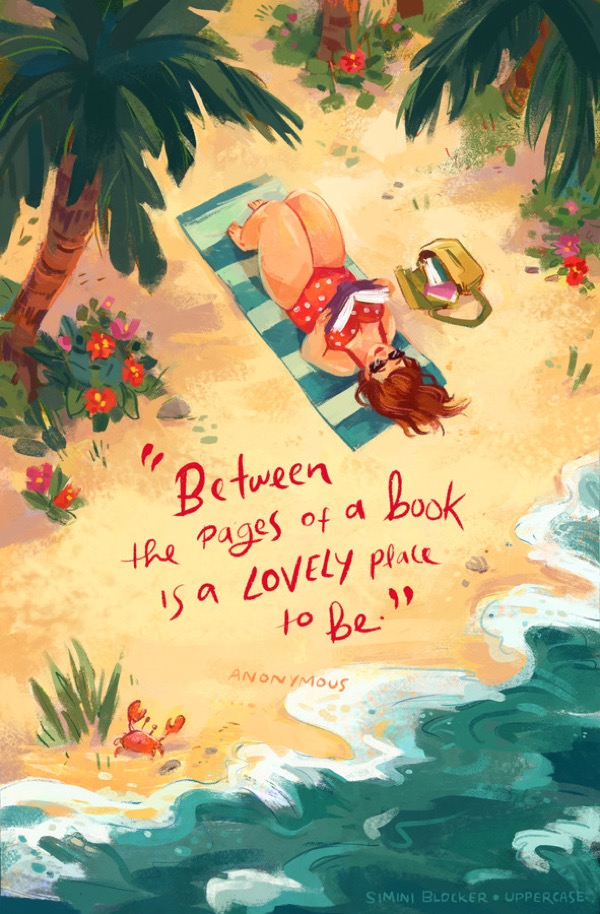 Book quote illustrations by Simini Blocker - Anonymous
