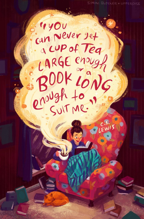 Book quote illustrations by Simini Blocker - C.S. Lewis