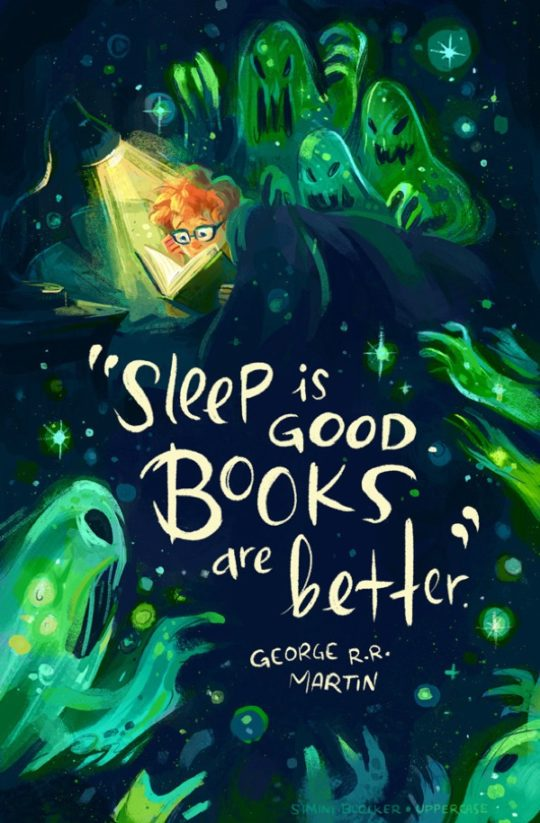 Book quote illustrations by Simini Blocker - George R.R. Martin