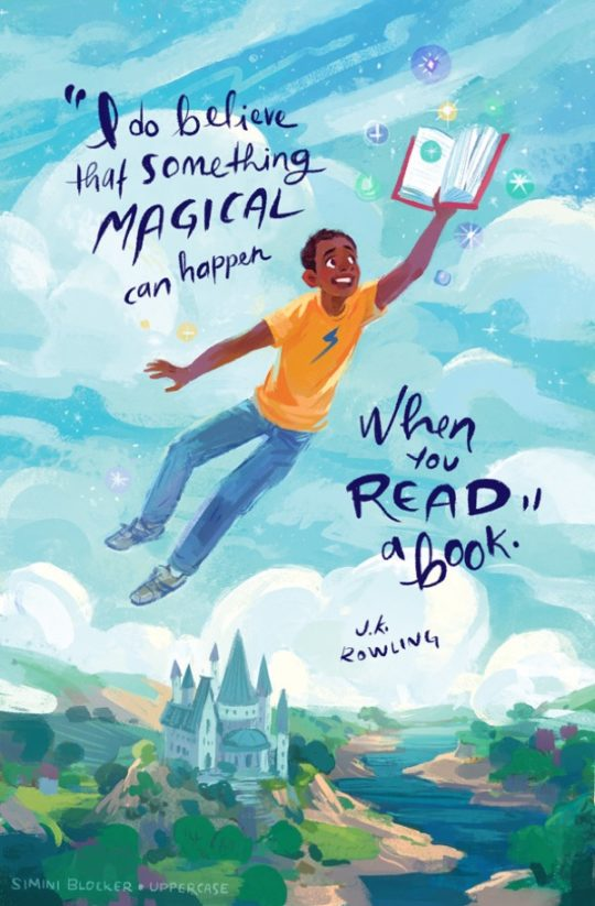 Book quote illustrations by Simini Blocker - J.K. Rowling