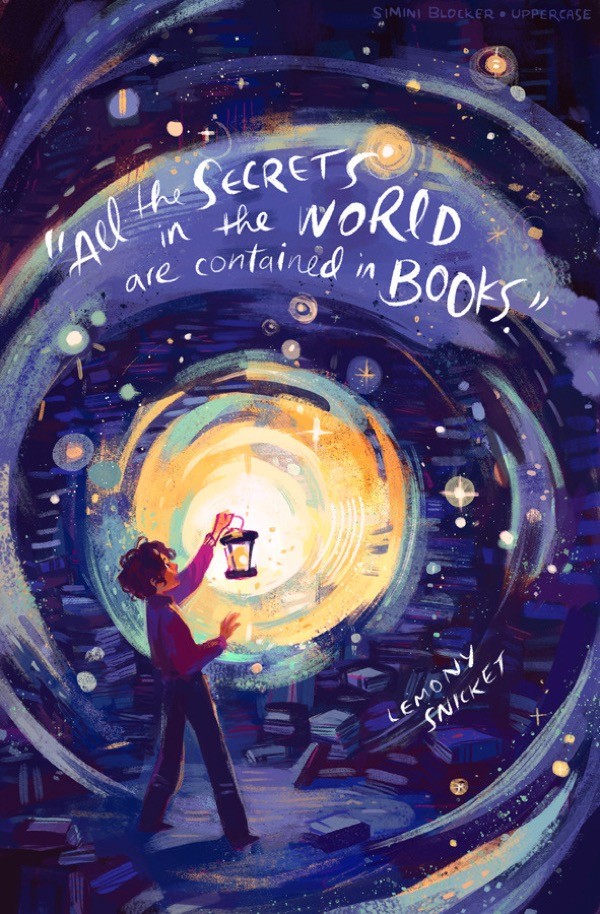 Book quote illustrations by Simini Blocker - Lemony Snicket