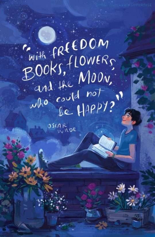 Book quote illustrations by Simini Blocker - Oscar Wilde
