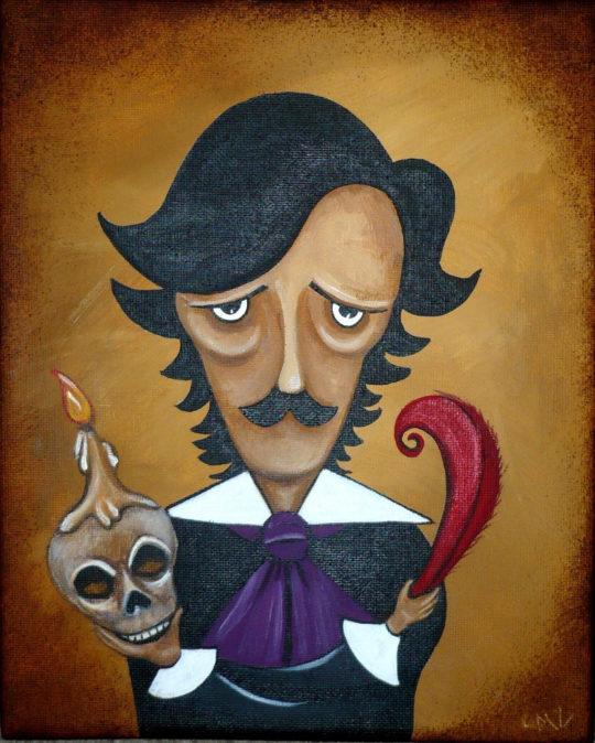 Dark Gothic Poe Portrait Art Print