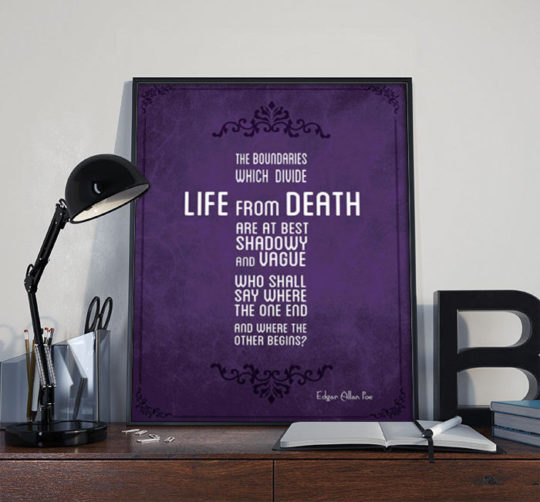 "Edgar Allan Poe ""Life or Death"" Poster"