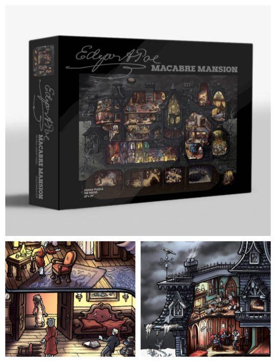 "Edgar Allan Poe ""Macabre Mansion"" Jigsaw Puzzle"