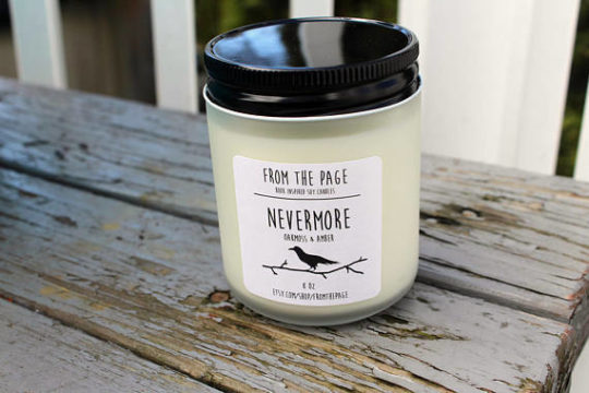 "Edgar Allan Poe ""Nevermore"" Scented Candle"