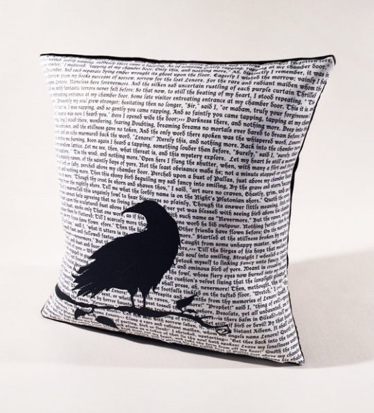 "Edgar Allan Poe ""The Raven"" Pillow"