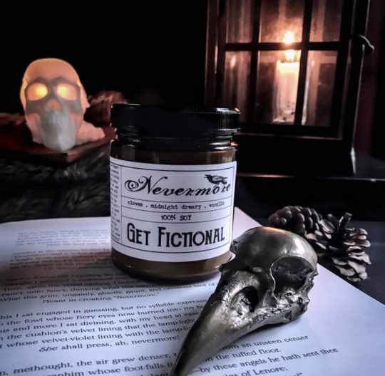 "Get Fictional ""Nevermore"" Soy Candle"