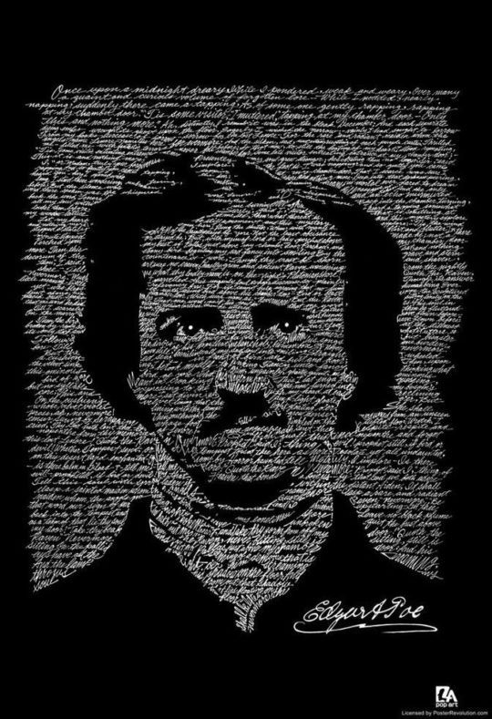 Hand-lettered Art Poster - The Raven - Edgar Allan Poe