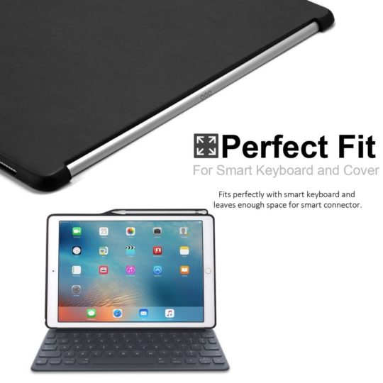Khomo iPad Pro case works with Smart Cover or Smart Keyboard