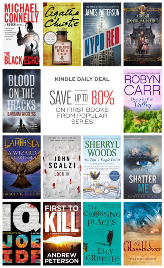 Kindle Daily Deal, 6 January 2018 - save up to 80% on first books from popular series