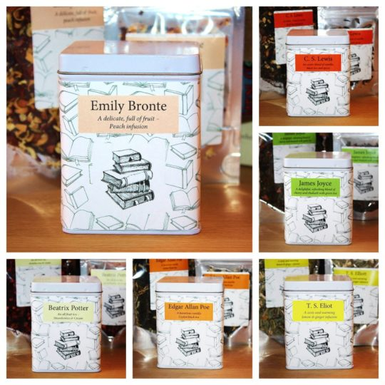 Literature-themed tea blends from The Literary Tea Company