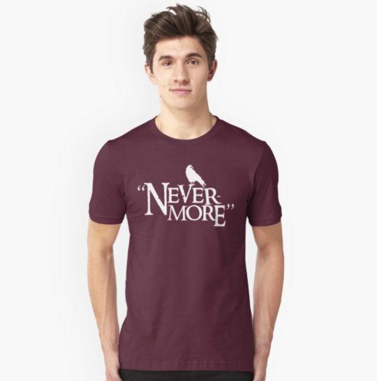 """Nevermore"" Edgar Allan Poe Unisex T-shirt"