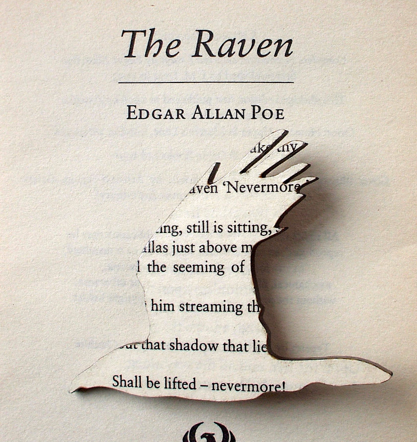 "Poe ""The Raven"" Literary Brooch"