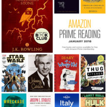 Prime Reading - Kindle books and comic books available for free with Amazon Prime membership - January 2018