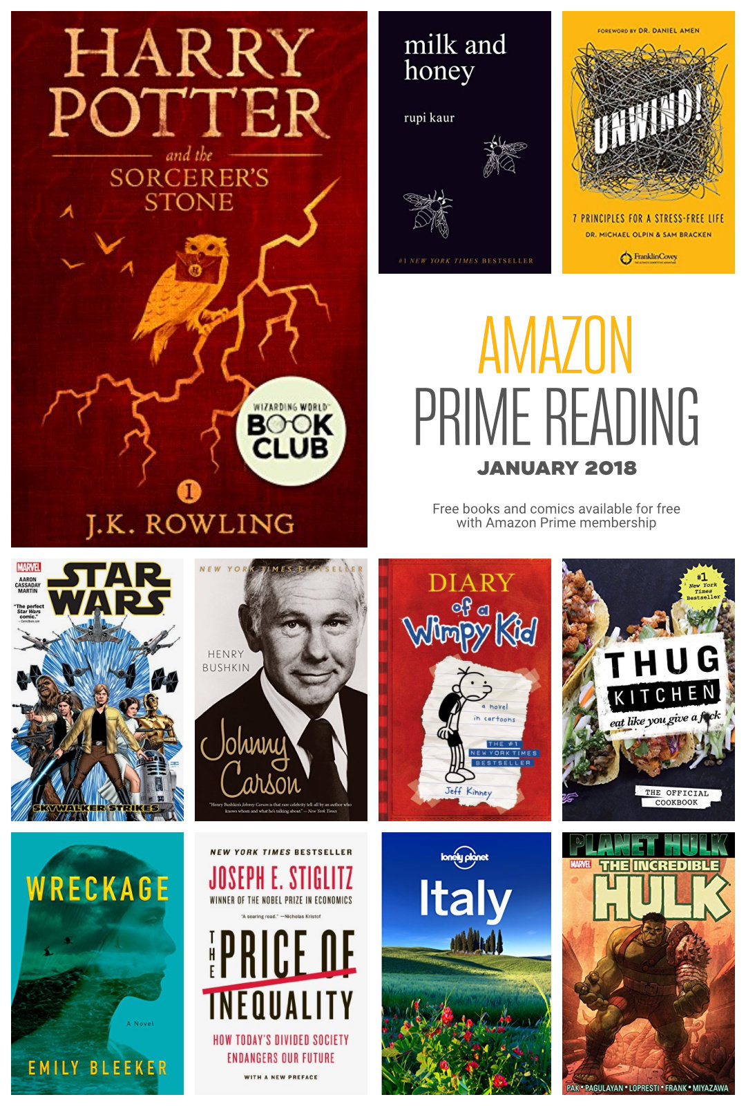 Amazon Prime Reading The 2018 List Of Free Books And Comics