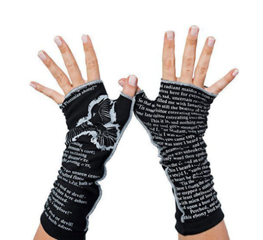 The Raven Fingerless Writing Gloves