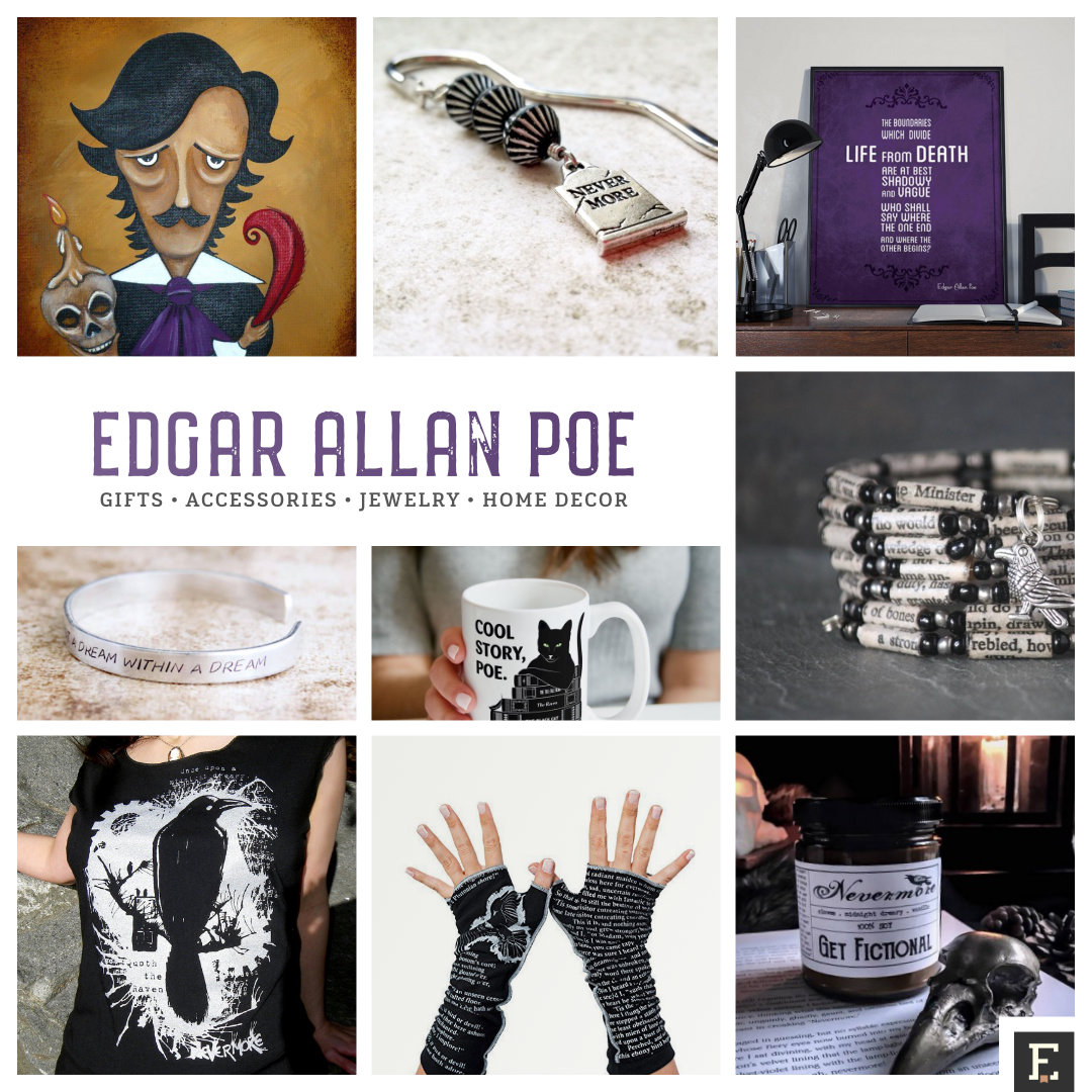 Home Decor Stuff: 17 Unique Gifts And Accessories For Edgar Allan Poe Fans