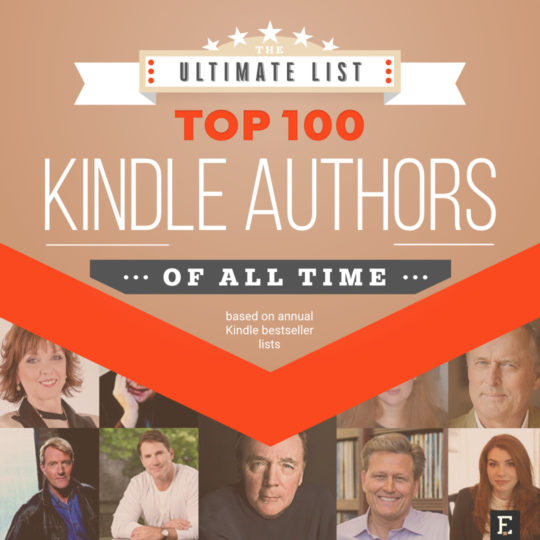 Top 100 Kindle authors of all time - the ultimate list