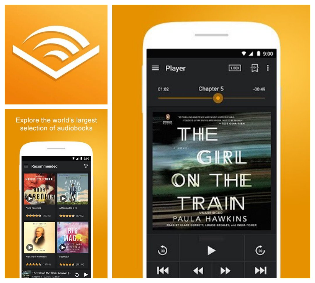 Audible for Android - the best audiobook apps in Google Play Store