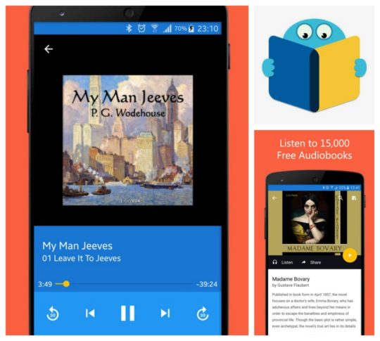 Audio book apps for Android - Oodles free ebooks and audiobooks