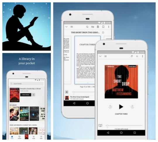 Best apps for audiobooks in Google Play Store - Kindle for Android