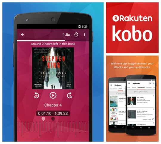 Kobo for Android - best audiobook apps in Google Play Store
