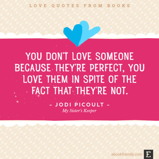 Love Quotes From Books   You Donu0027t Love Someone Because Theyu0027re Perfect