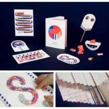 Papier Machine is an innovative book that includes interactive toys silkscreened with conductive ink