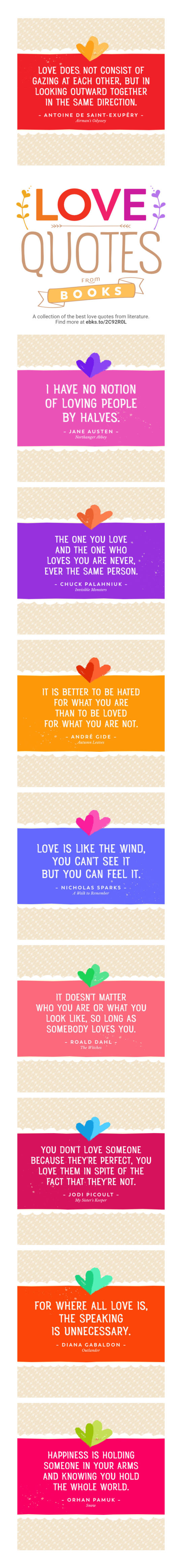 The best love quotes from books #infographic