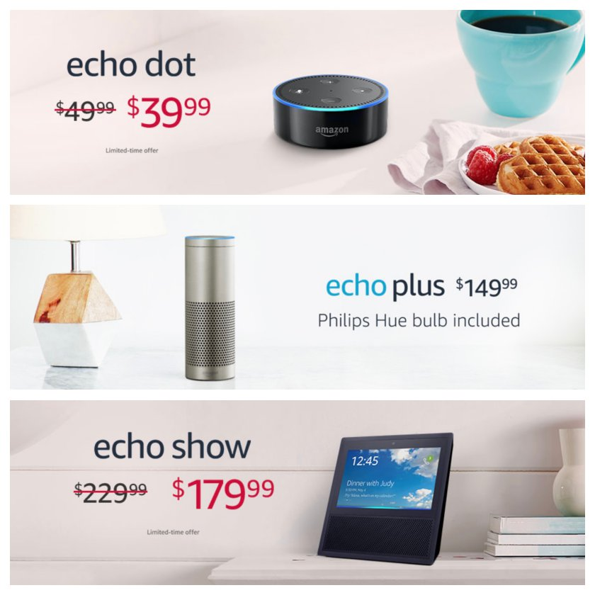 Valentine's Day 2018 deals and special offers on Amazon Echo smart speakers