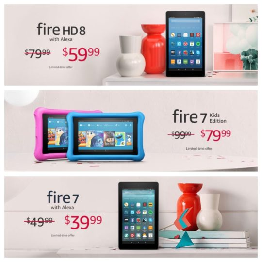 Valentine's Day 2018 deals and special offers on Amazon Fire tablets
