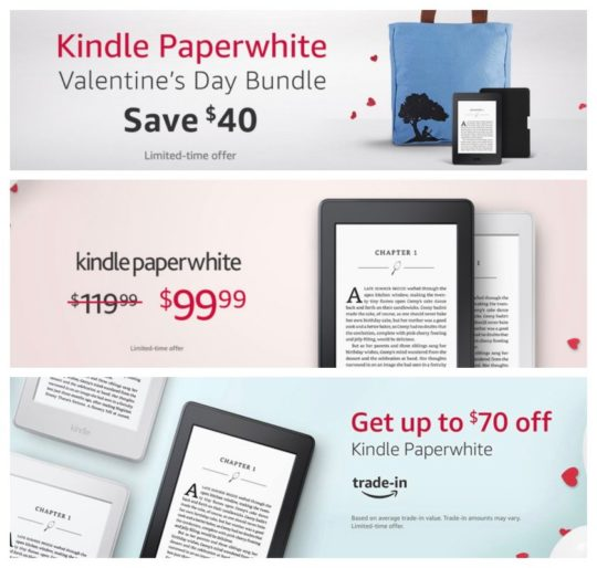 Valentine's Day 2018 special offers and deals on Kindle e-readers