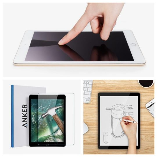 Anker iPad Tempered Glass Screen Protector - best iPad accessories in 2018