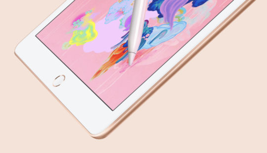 Apple iPad 9.7 tablet released in 2018 is Apple Pencil ready