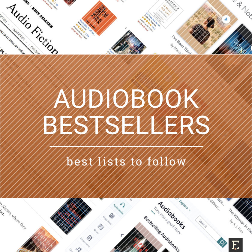 Best audiobook bestseller lists to follow