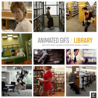 Funniest and weirdest animated gifs that are set in libraries